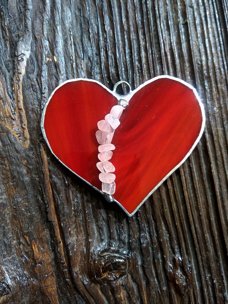Tiffany vitráž srdce