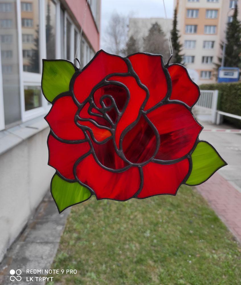 Tiffany vitráž růže