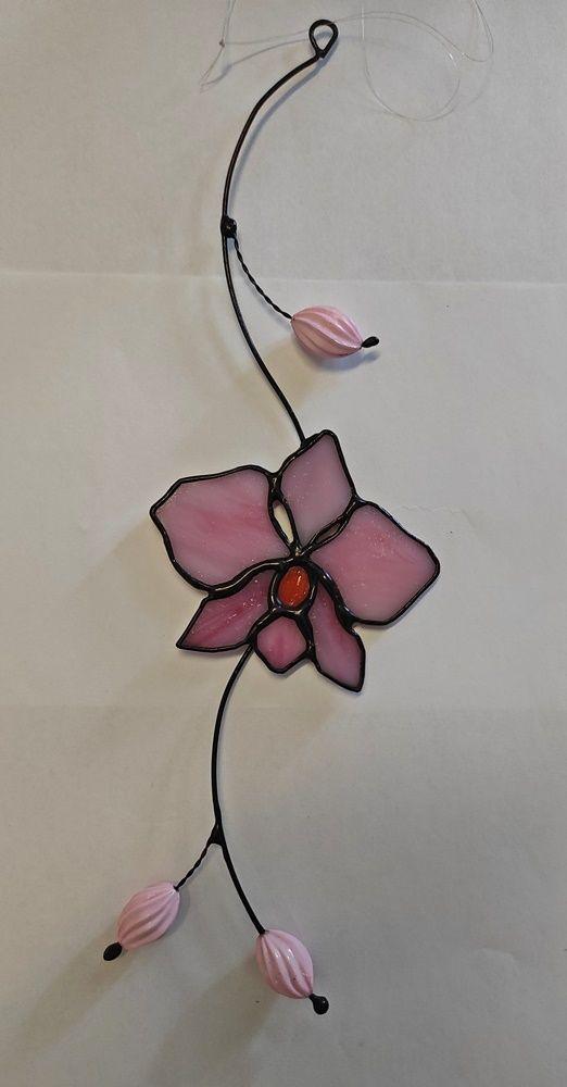 Tiffany vitráž orchidej