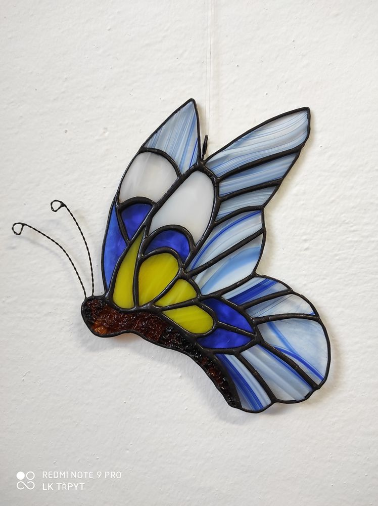 Tiffany vitráž motýl