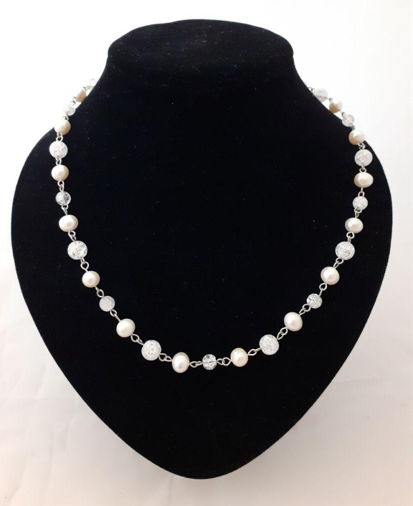 Náhrdelník s říčními perlami