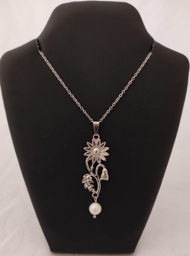 Náhrdelník s říční perlou