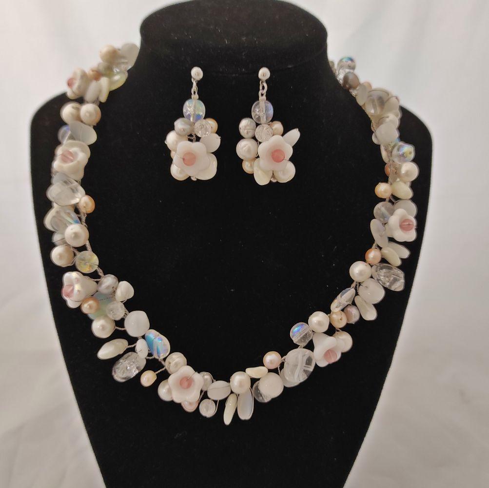 Svatební náušnice z říčních perel