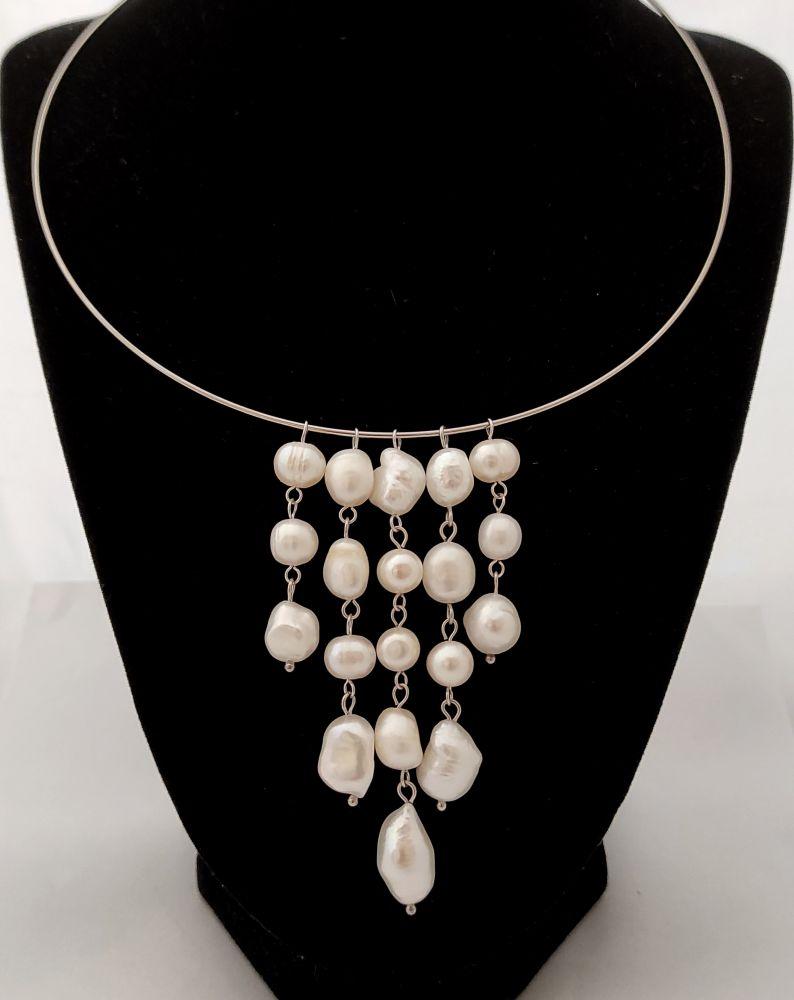 Náhrdelník z říčních perel